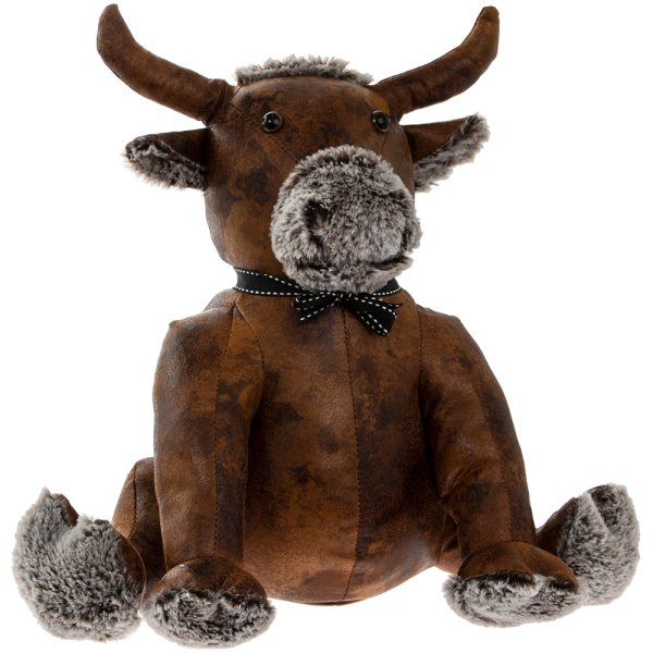 LEATHER BULL DOORSTOP