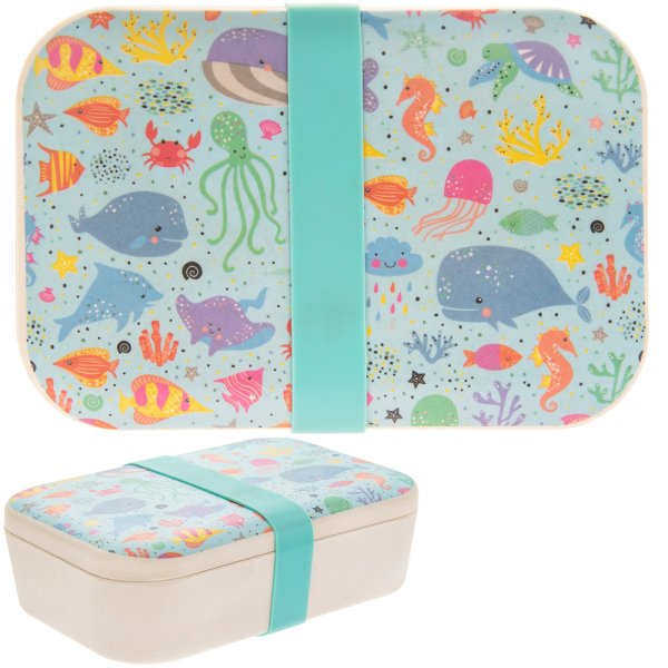 BAMBOO LUNCH BOX SEA LIFE
