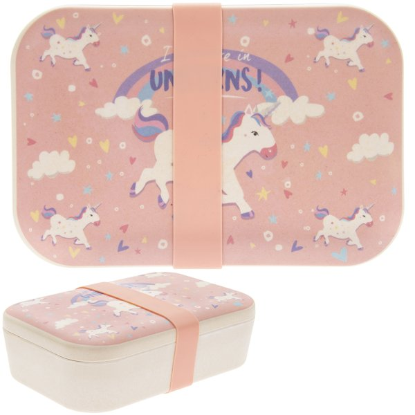 BAMBOO ECO LUNCH BOX UNICORN