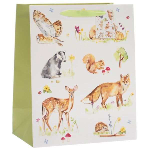 WOODLAND WILDLIFE GIFT BAG L