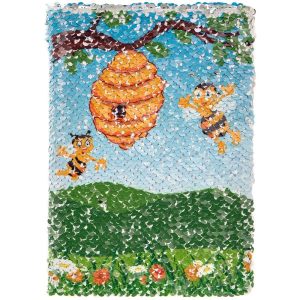 BEE SEQUIN NOTEBOOK