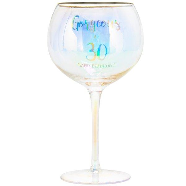 HAPPY 30TH GLASS
