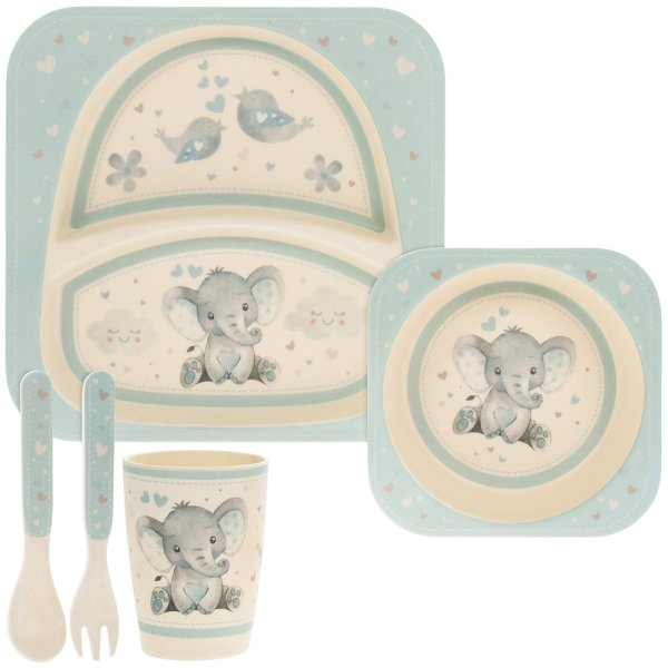 BIRD & ELLIE BAMBOO SET BLUE