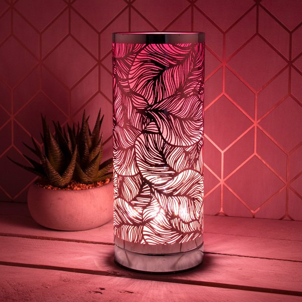 DESIRE LEAF TOUCH LAMP SIL&PNK