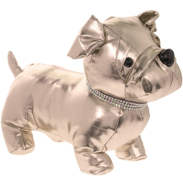 BULLDOG DOORSTOP ROSE GOLD