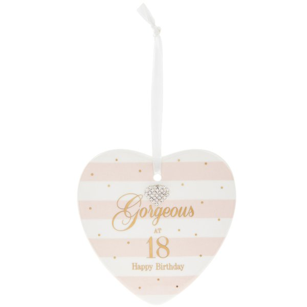 MAD DOTS 18TH HEART PLAQUE