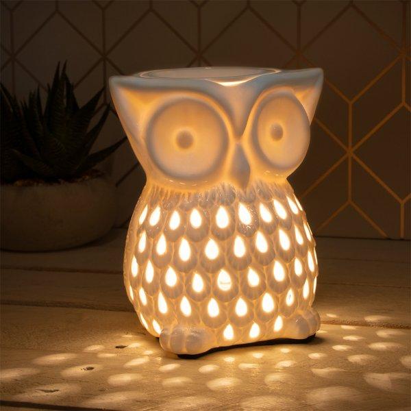 DESIRE AROMA LAMP OWL WHITE