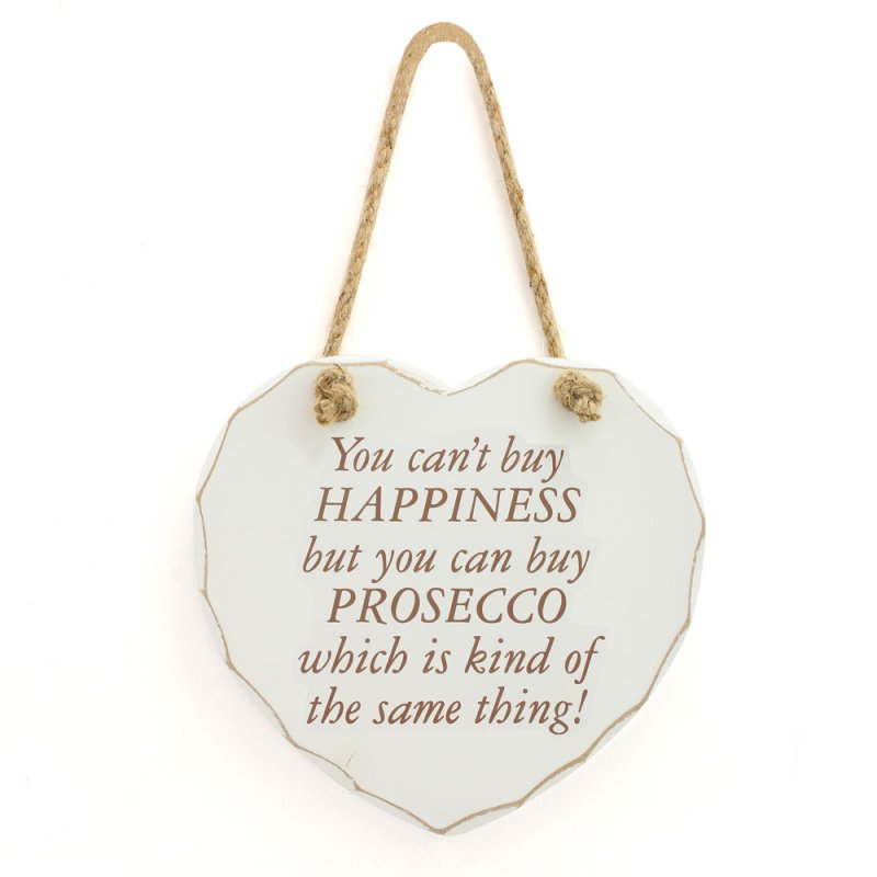 HAPPINESS AND PROSECCO PLAQUE