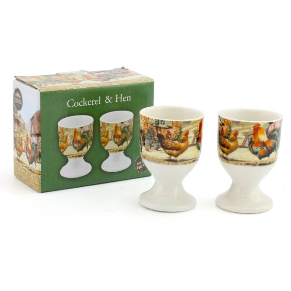 COCKEREL & HEN EGG CUPS
