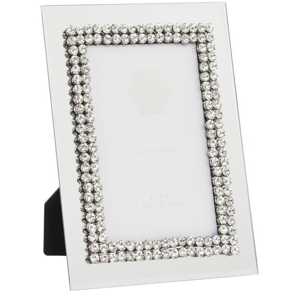 DIAMANTE MIRROR FRAME 4X6