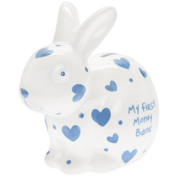MY 1ST MONEY BOX RABBIT BLUE