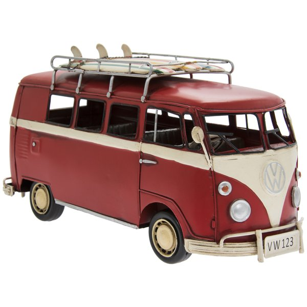 VINTAGE VW CAMPER VAN RED