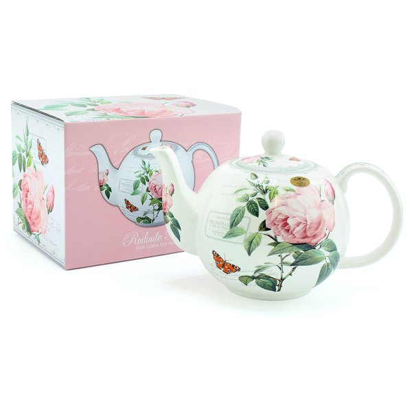 REDOUTE ROSE TEAPOT