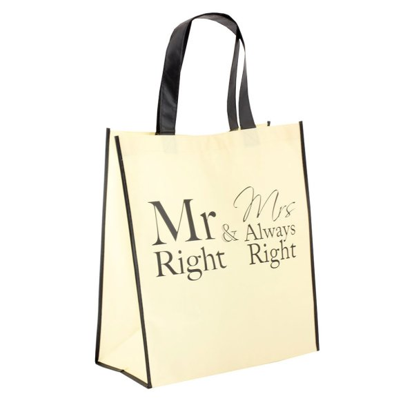 MR & MRS RIGHT SHOPPING BAG