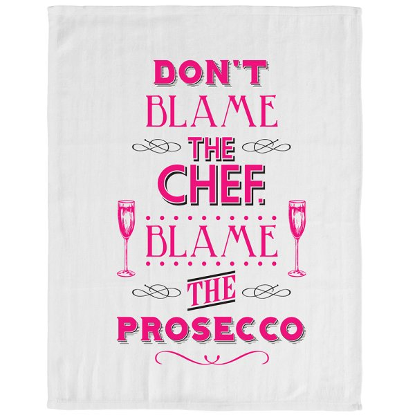 BLAME THE PROSECCO TEA TOWEL