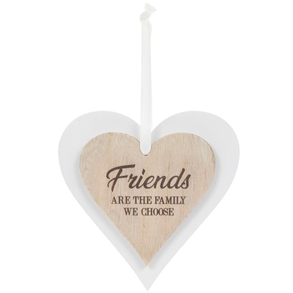 DBL HEART PLAQUE FRIENDS