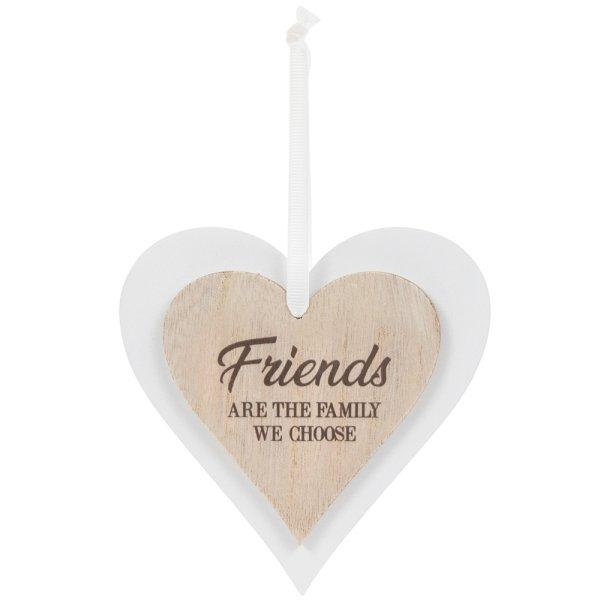DBL HEART PLAQUE FRIENDS