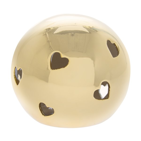 GOLD HEART LED BALL L