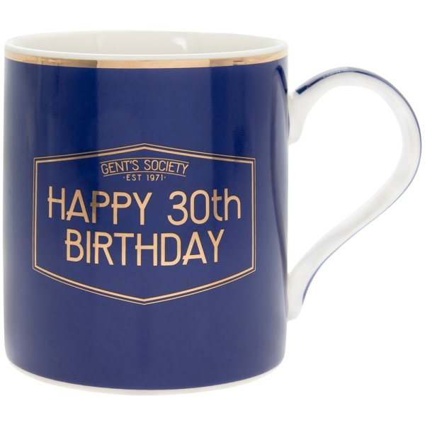 GENT'S SOCIETY HAPPY 30TH MUG