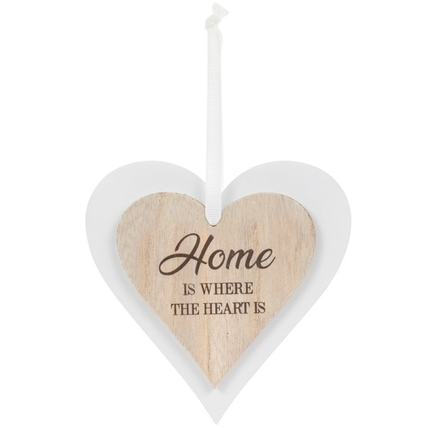 DBL HEART PLAQUE HOME