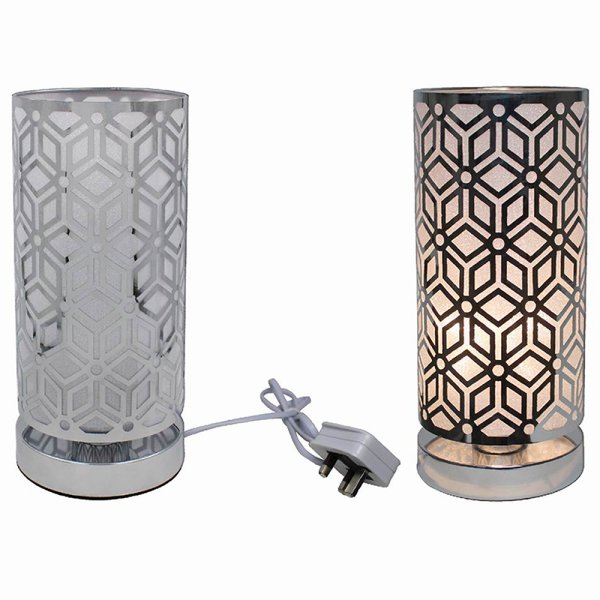 SILVER TOUCH LAMP GEOMETRIC