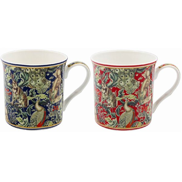 WOODLAND TAPESTRY MUGS SETOF2