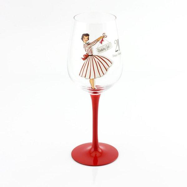 MRS SMITH 21ST WINE GLASS
