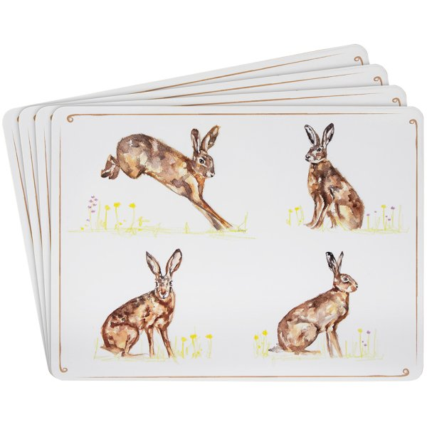 HARES PLACEMATS SET OF 4