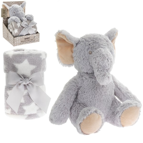 ELEPHANT BLANKET & SOFT TOY