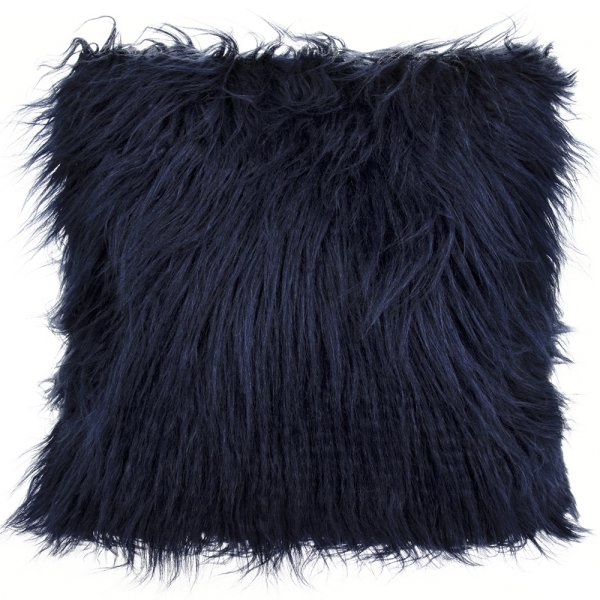 FURRY CUSHION BLUE