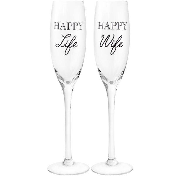HAPPY WIFE HAPPYLIFE FLUTES 2S