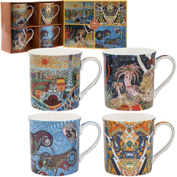 GAUDI MUGS SET OF 4