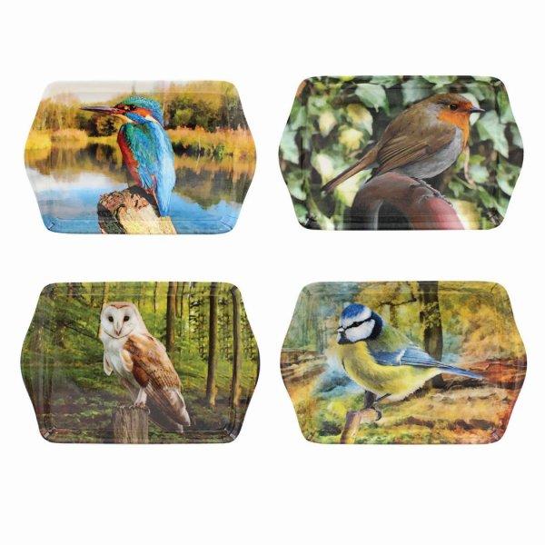 BIRDS SMALL TRAY 4 ASST