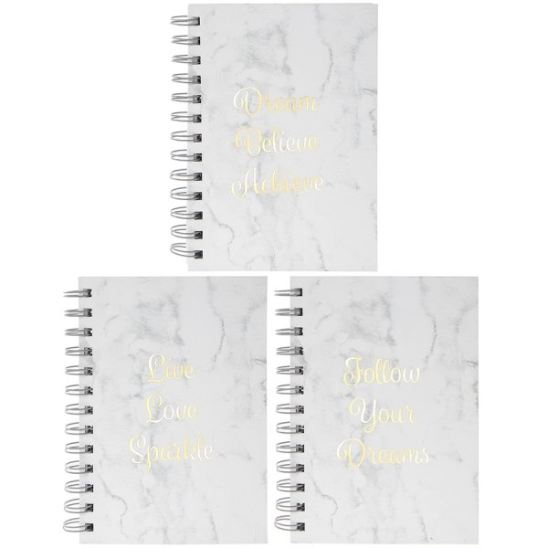 MARBLE WHITE NOTEBOOK 3 ASST