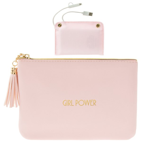 SHINEBRGHT PINK GIRLPOWERPURSE