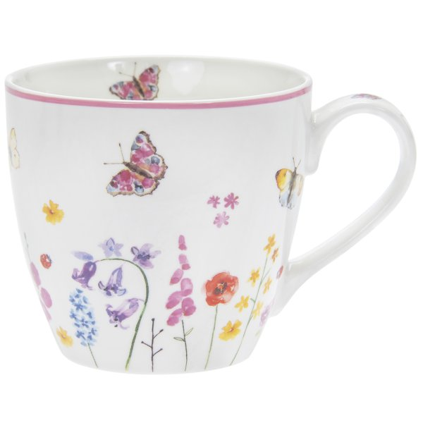 BUTTERFLY GARDEN BREAKFAST MUG