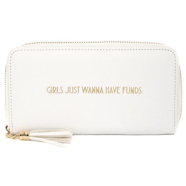 SHINE BRIGHT WALLET WHITE