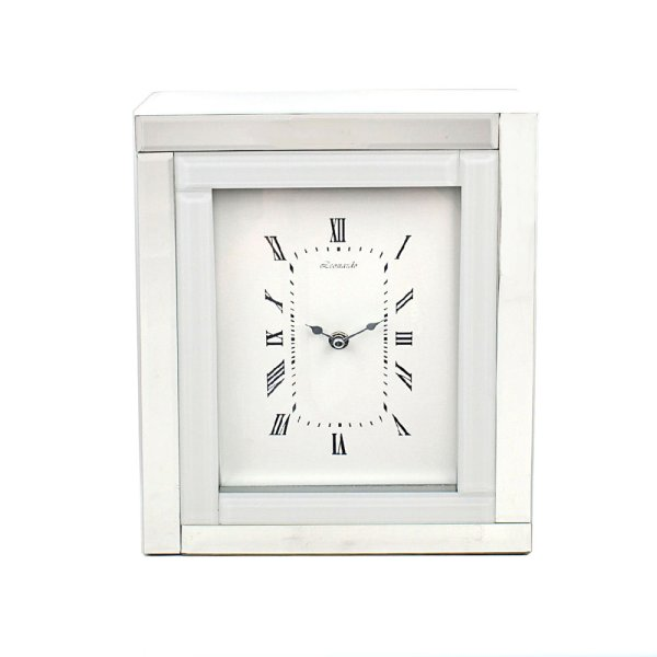 MIRROR & WHITE EDGE CLOCK