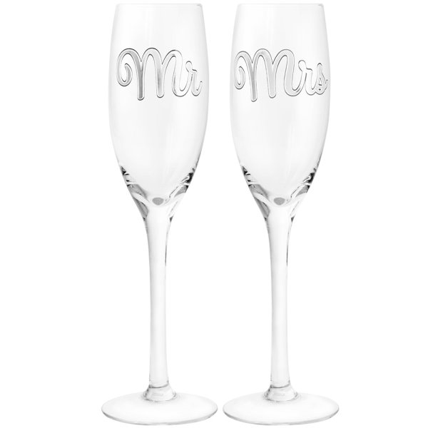 MR & MRS FLUTES SET OF 2