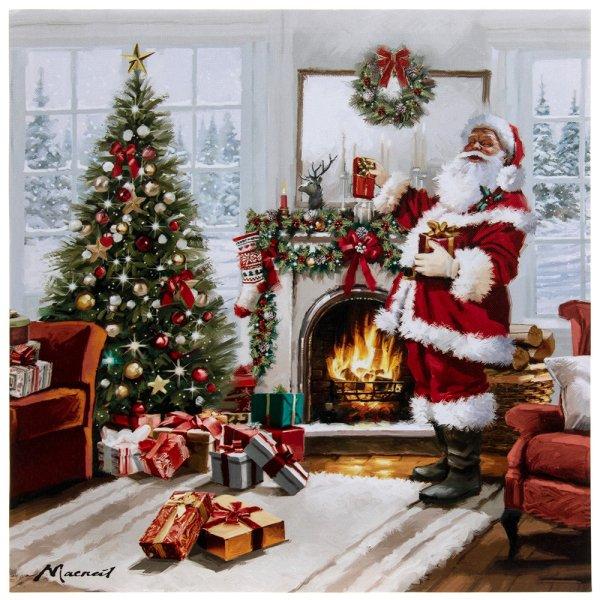 CHRISTMAS SANTA LED CANVAS