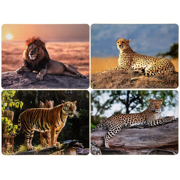 SAFARI BIG CATS PLACEMATS SET4