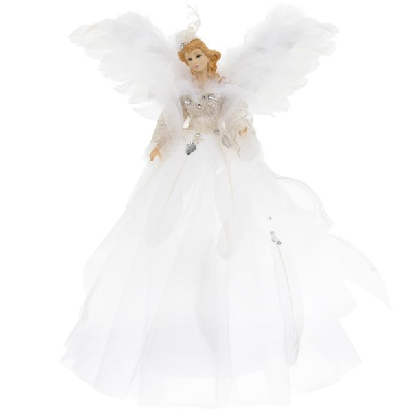 ANGEL TREE TOP WHITE 16""