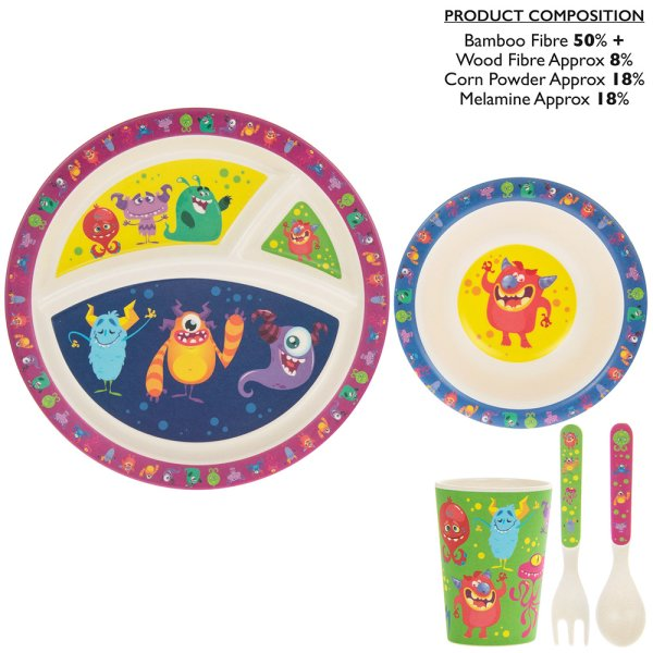 BAMBOO EATING SET MONSTERS