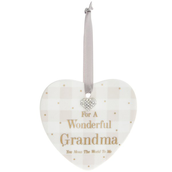 MAD DOTS GRANDMA HEART PLAQUE
