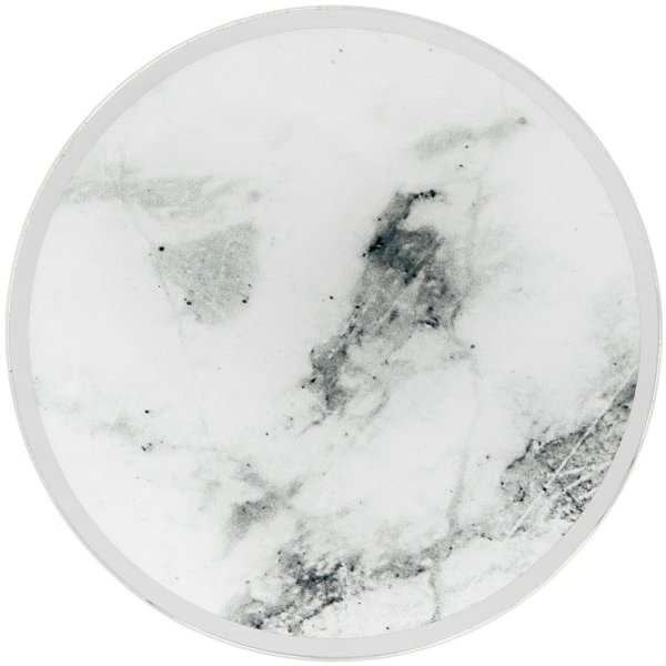 MIRROR MARBLE CANDLEPLATE 10CM