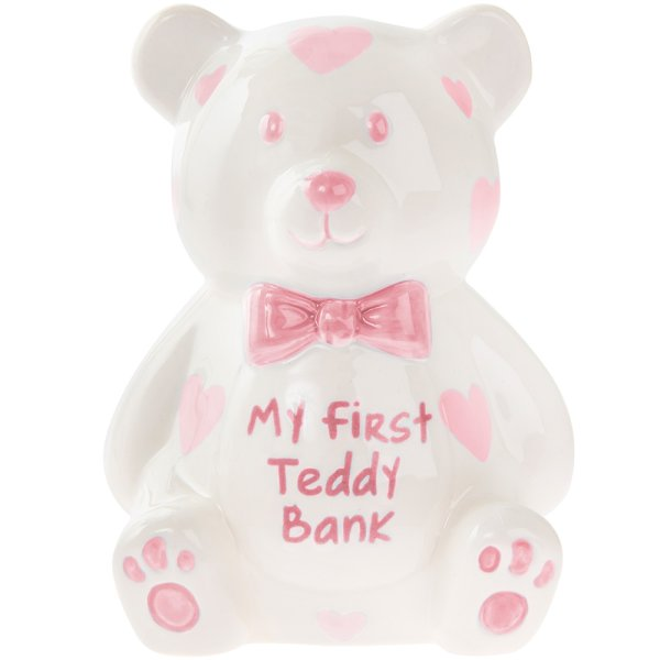 MY FIRST TEDDY BANK LARGE PINK