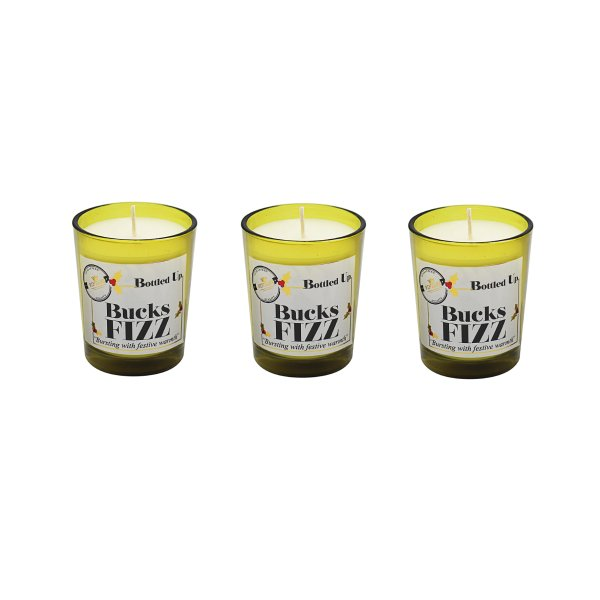 BOTTLE UP BUCKS FIZZ CANDLESET