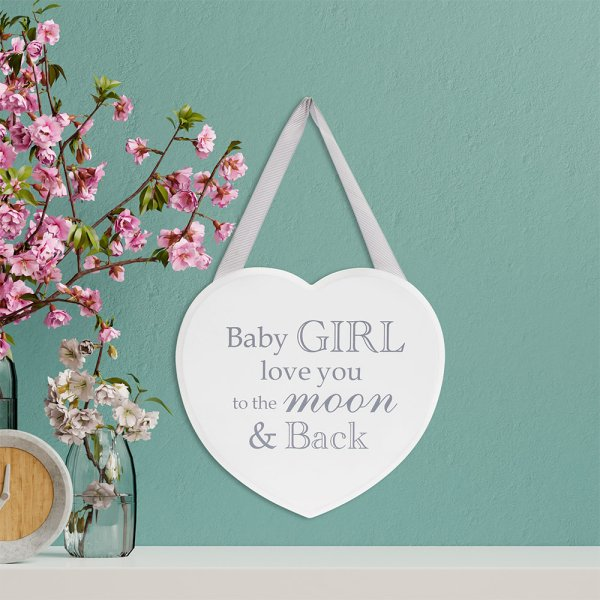HEART PLAQUE BABY GIRL