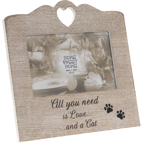 SENTIMENTS HEART FRAME CAT