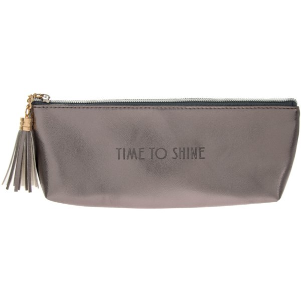 SHINE BRIGHT METALLIC COSM BAG
